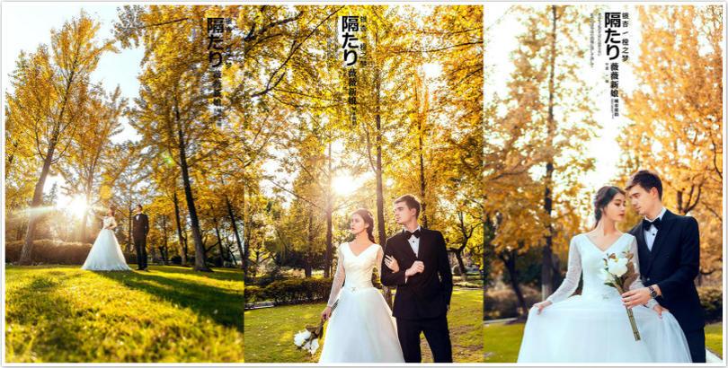 绍兴薇薇新娘-作品银杏橙之梦